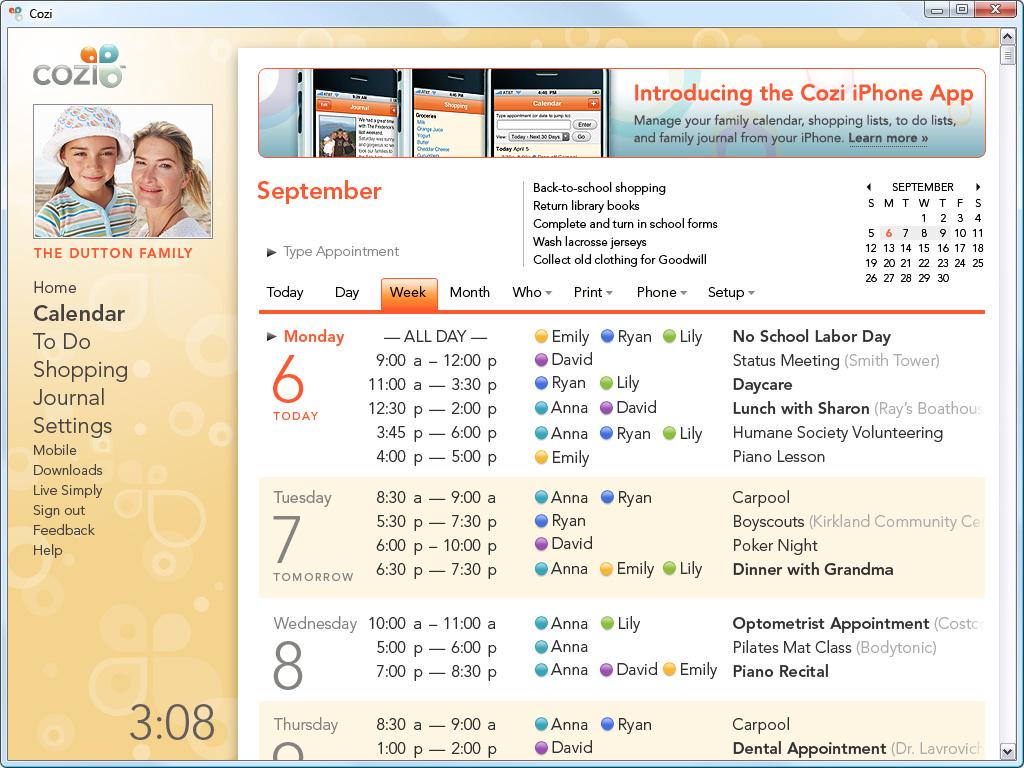 COZI CALENDAR Yangah Solen – Sample Julian Calendar