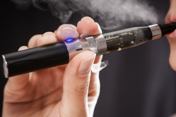 E-Cigarette being used